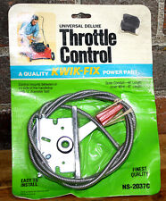 Universal Deluxe Throttle Control Cable Kwik Fix W/ Face Plate & Thumb Control