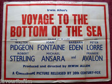 Cinema Poster: VOYAGE TO THE BOTTOM OF THE SEA 1961 (Quad) Walter Pidgeon