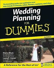 Wedding Planning For Dummies - Acceptable - Blum, Marcy - Paperback