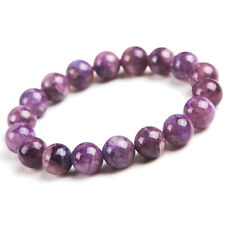Natural Purple Charoite Crystal Round Big Beads Stretch Bracelet 11mm AAA
