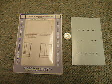 Microscale decals N 60-340 62' bulkhead flat cars BN UP CLC J61