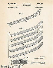 1964 Water Ski Artwork Gifts For Skiers Old Waterskis Obrien Design Patent 11x14