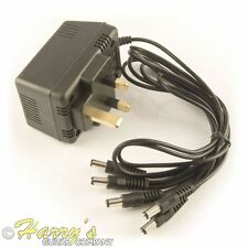 9V DC UK Power Supply Adattatore | fino a 5 pedali effetto | Accoppiamenti BOSS ETC