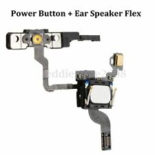 Power Button Flex Cable Replacement Part With Ear Speaker & Bracket For iPhone 4