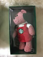 "NEW STARBUCKS LIMITED EDITION 2016 ""BEARISTA"" TEDDY BEAR W/RED APRON CHRISTMAS!"