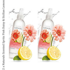 2 x Avon Naturals P Daisy & Sicilian Lemon Scented Spritz Room Mist Spray 100ml