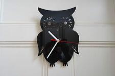 Reloj De Búho, hecha de plexiglás [R-1] Negro Oficina Hogar Arte Dormitorio Shop Veterinario