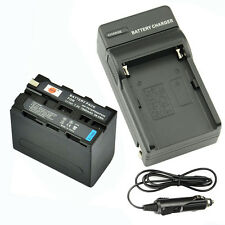 DSTE NP-F970 Battery + Travel and Car Charger For Sony HDR-FX1 DCR-VX2100E