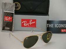 Ray Ban 3025 Aviator RB 3025 W3234 55mm Gold Frame with Green G-15XLT Small