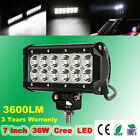 "7"" 36W CREE LED WORK LIGHT BAR DRIVING FLOOD SPOT OFFROAD LAMP 4WD BOAT JEEP ATV"
