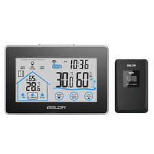 Outdoor Wireless Touch Screen Temperature Humidity Weather Station CLock Sensor