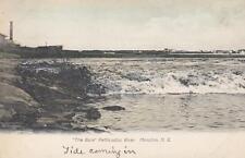 Antique POSTCARD c1907-20 The Bore Petticodiac River MONCTON, NB 18880