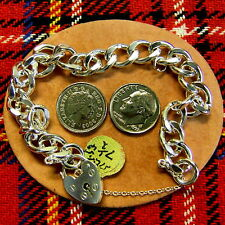 SILVER second hand solid charm bracelet
