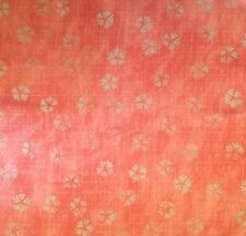 DESIGNERS GUILD Celandine Passiflora Coral Grey Floral Remnant New