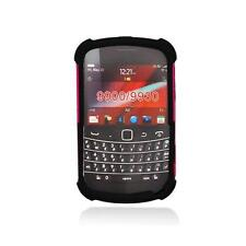 Hot Pink / Black Hybrid Case w/ Logo Cutout for Blackberry Bold Touch 9900/ 9930