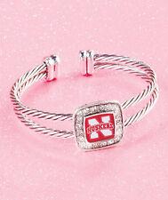NEBRASKA CORN HUSKERS Cuff Bracelet w/ Crystal Border Jewelry Gift Football Fans
