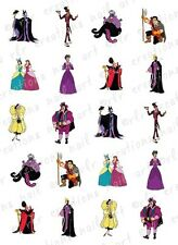 20 NAIL DECALS *DISNEY VILLAINS* WATER SLIDE DECALS  PRINCESS VILLAINS NAIL ART
