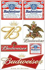 Budweiser Beer 5.5 X 8.5 Die Cut Vinyl Decal Sheet Logo Anheuser Busch Sticker