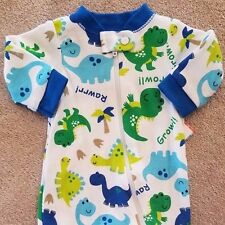 ADORABLE! NEW!! GARANIMALS PREEMIE RAWRRR DINO FOOTED SLEEP N PLAY OUTFIT REBORN