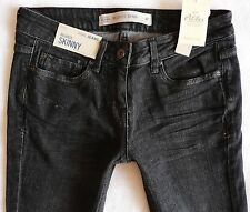BNWT NEXT Ladies relaxed skinny leg jeans black grey wash low rise  size 6 p