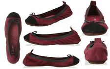New YOSI SAMRA Women's Cap Toe Ballet Flat with Bow Sz 6