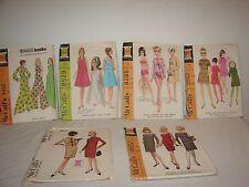 Vintage 60s Lot McCall's Fashions Dresses Jumpsuit Swimwear Patterns Uncut Sz 14