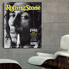 Poster Mural Bob Marley Reggae Musician 40x50 inch (100x125 cm) Adhesive Vinyl