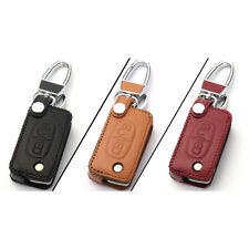 New 2 Buttons PU Leather Remote Key Chain Holder Case Cover For Peugeot Series C