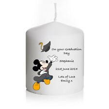 Personalised Disney Mickey Mouse Graduation Candle Gift Keepsake