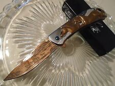 Master Collection Ballistic Assisted Copper Horse Stampede Pocket Knife A031CP