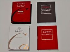 4 Mens Cartier Cologne Samples lot Declaration Essence D`un Soir Eau De Cartier