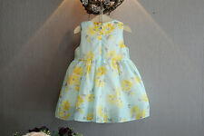 Newborn Toddler Girl Baby Bowknot Princess Party Dress Tutu Clothes Outfit 6-12M