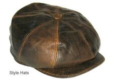 SALE Leather SheepSkin Baker boy Paper boy Hat CLADWIN BOND HATTERS LONDON S