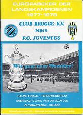 1978 European Cup Semi Final Brugge v Juventus
