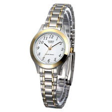 Casio LTP1128G-7B Ladies Two-Tone Stainless Steel Casual Dress Watch White Dial