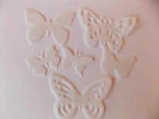 48 Precut Edible White Butterflies for cakes and cupcake toppers