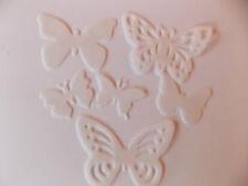 48 Precortada Comestibles Blanco Mariposas Para Tortas Y Cupcake Toppers