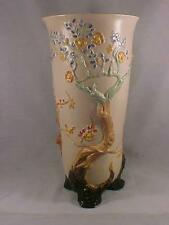 """Clarice Cliff Very Lg 13 7/8"""" Cherry Tree Footed Vase"""