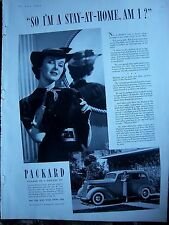 1937 Antique PACKARD Six Car Automobile So I'm a Stay At Home Am I Ad