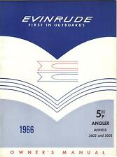 1966 EVINRUDE  5 HP ANGLER OUTBOARD OWNERS MANUAL P/N 205586 (556)