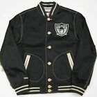 Oakland Raiders Authentic Mitchell and Ness NFL Jacket Size M L XL