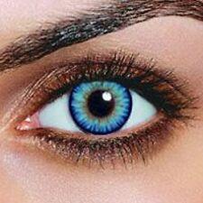 lentilles de couleur bleu sky1 an - contact lenses blue