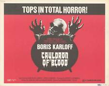 CAULDRON OF BLOOD original 1971 22x28 movie poster BORIS KARLOFF/VIVECA LINDFORS