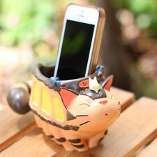 Ghibli My Neighbor Totoro Figure Cat Bus Penholder Resin Flower Pot Home Decor