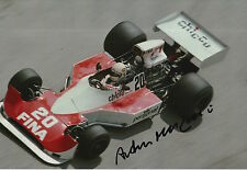 Arturo Merzario Hand Signed 12x8 Photo Frank Williams Racing F1.