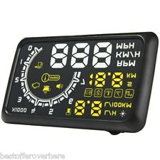 5.5'' Universal W02 Car OBDII HUD Fuel Overspeed Warning Head Up Display System