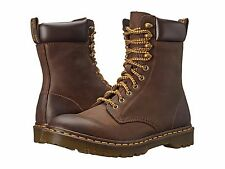 Dr. Martens Men's Padten 10-Tie Boot Dark Brown Wyoming Doc Men's 5 Women's 6
