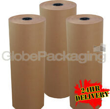 900mm x 225M x 3 BROWN KRAFT WRAPPING PAPER ROLLS 88gsm