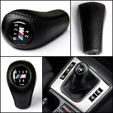 BMW M POWER 5 SPEED GEAR SHIFT KNOB E60 E90 E92 E91 E46 M3 M5 M6 LEATHER NEW