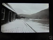 Glass Magic lantern slide UNKNOWN LOCATION 6 NORWAY - BUILDING NEAR FJORD